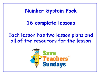 Number System Lessons Bundle / Pack (16 Lessons for 1st to 2nd grade)