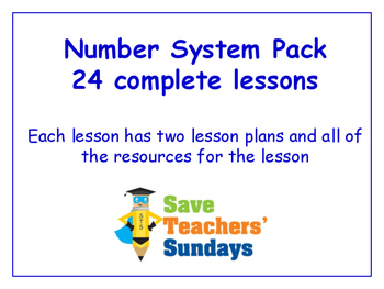Number System Lessons Bundle/Pack (24 Lessons for 2nd to 4