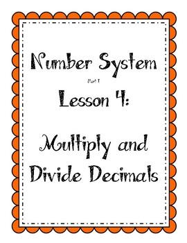 Number System - Multiply and Divide Decimals