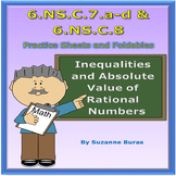 Number System: Ordering, Inequality, and Absolute Value - 6.NS.C.7.a-d & 8