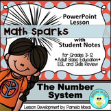 Place Value: Number System PowerPoint and Student Notes Newly Revised