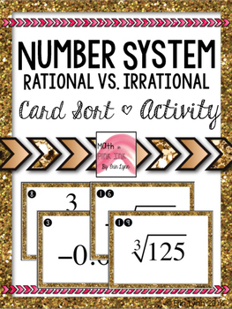 Number System - Rational, Irrational Numbers Card Sort Activity 8.NS.A.1 Go Math