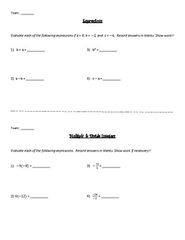 Number System Relay Race Review Game