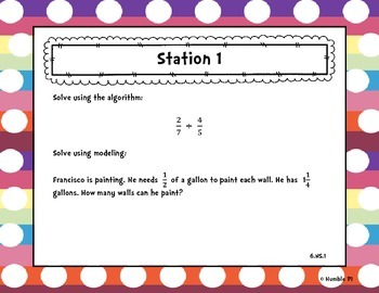 Number System Review Stations- 6.NS.1,2,3,4,5,6,7,8