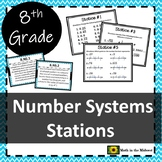 Real Number System Station Review {8th Grade Math} 8.NS.1 and 8.NS.2