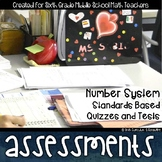 Number System Standards Based Assessments & Item Analysis