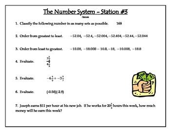 Number System Station Review