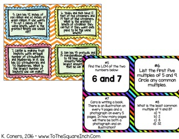 Number System Task Cards- 6th Grade Math