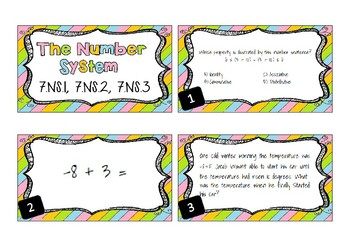 Number System Task Cards 7.NS