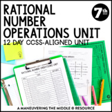 7th Grade Math Rational Numbers Unit: 7.NS.1, 7.NS.2, 7.NS.3