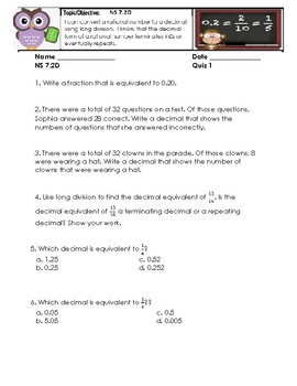 Number System Unit Practice sets and Quizzes