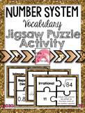 Number System - Vocabulary Jigsaw Activity 8.NS.A.1 8.NS.A.2 Go Math