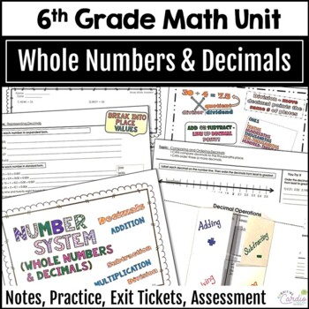 Number System Unit - Whole Numbers and Decimals for 6th Grade