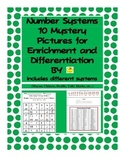 Number Systems 10 Mystery Pictures for Enrichment and Differentation