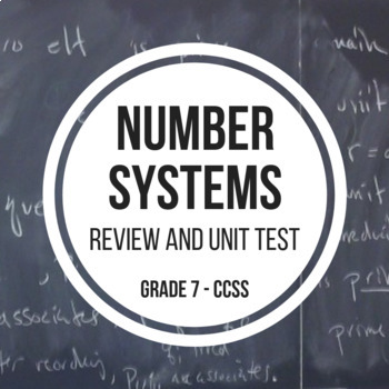 Number Systems - Study Guide and Unit Test