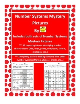 Number Systems Mystery Pictures Combo Pack