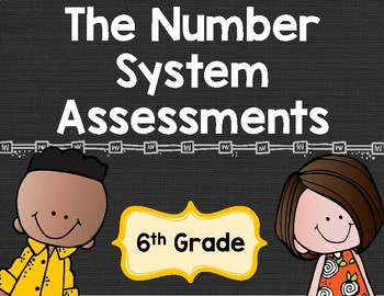 Number Systems Tests for 6th Grade 6.NS.1-8