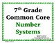 Number Systems Word Wall with Example - 7th Grade