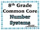 Number Systems Word Wall with Example & Spanish Translation - 8th Grade