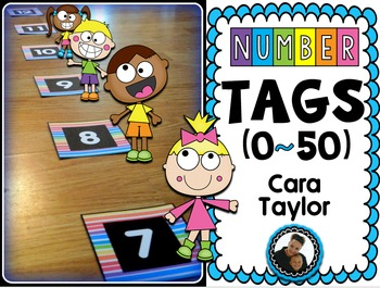 Number Tags 0 - 50