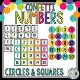 Number Tags - Confetti