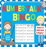 Number Talk Bingo - Subtraction Category 1