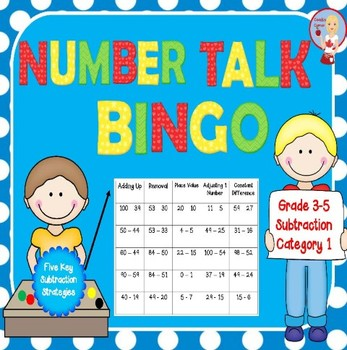 Number Talk Bingo - Subtraction Category 1
