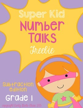 Grade 1 Number Talk Freebie : Counting Back