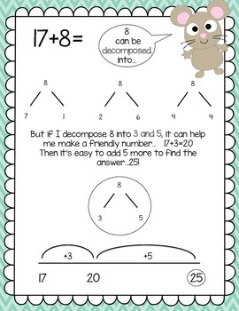 Number Talk Freebie - Decomposing Numbers