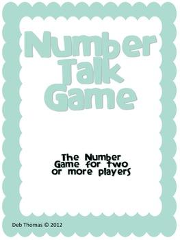 """""""Number Talk"""" Game"""
