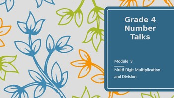 Number Talk Grade 4 Eureka/ Engage NY Math Module 3