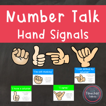 Number Talk Hand Signal Posters