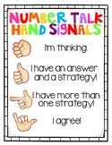Number Talk Hand Signals
