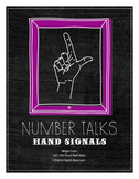Number Talk Hand Signals Posters