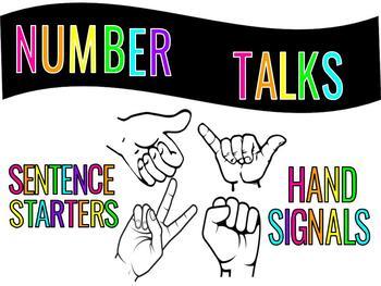 Number Talk Hand Signals/Sentence Starters