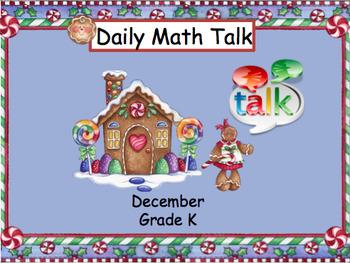 Number Talk - Kindergarten December