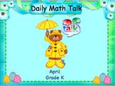 Number Talk - Kindergarten April