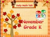 Number Talk - Kindergarten November