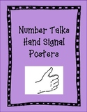 Number Talks Hand Signal Posters