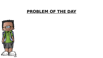 Number Talk & Problem of the Day