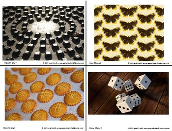 Number Talk Prompts Samples: Dot Patterns and How Many? Photo Cards