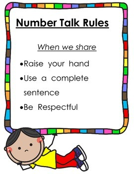 Number Talk Rules