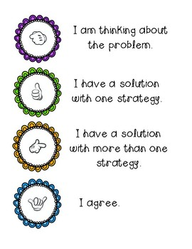 Number Talk Strategy Poster