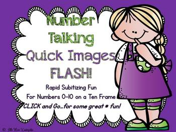 Number Talking~Quick Images To 10 On A Ten Frame!