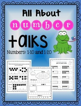 Number Talks: All about numbers 1-10 and 1-20 Common Core Aligned