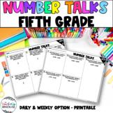 Number Talks - 5th Grade - Number Sense Activities- Math Fluency