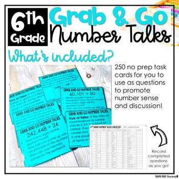 Number Talks 6th Grade A YEARLONG NUMBER SENSE PROGRAM