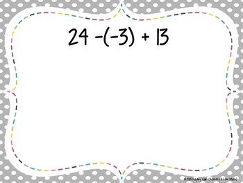 Number Talks 8th Grade Math