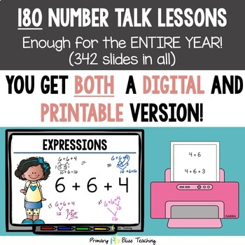Number Talks - A Yearlong Program for First Grade - Common Core Aligned