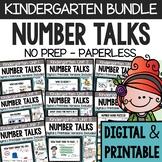 Kindergarten Number Talks - (DIGITAL and PRINTABLE) - A Ye